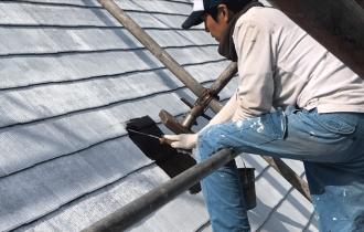 屋根遮熱塗装仕上げ