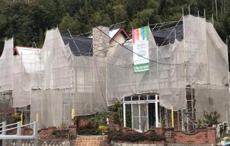 屋根遮熱塗装中塗り・上塗り