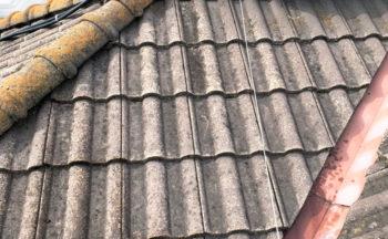 屋根下塗り、スラリー強化プライマー完了