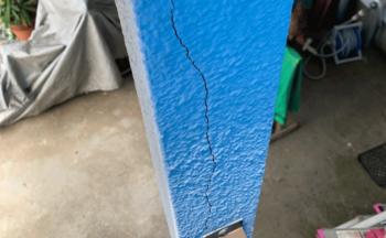 柱のひび施工前