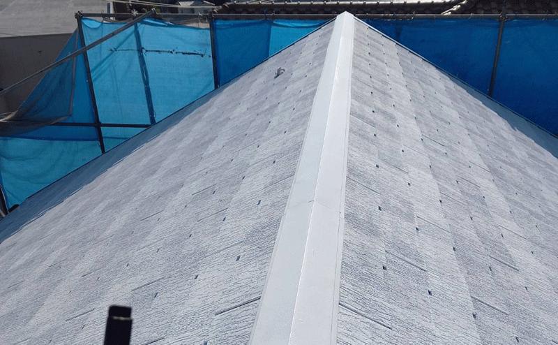 西区高須台A様邸屋根下塗り完了