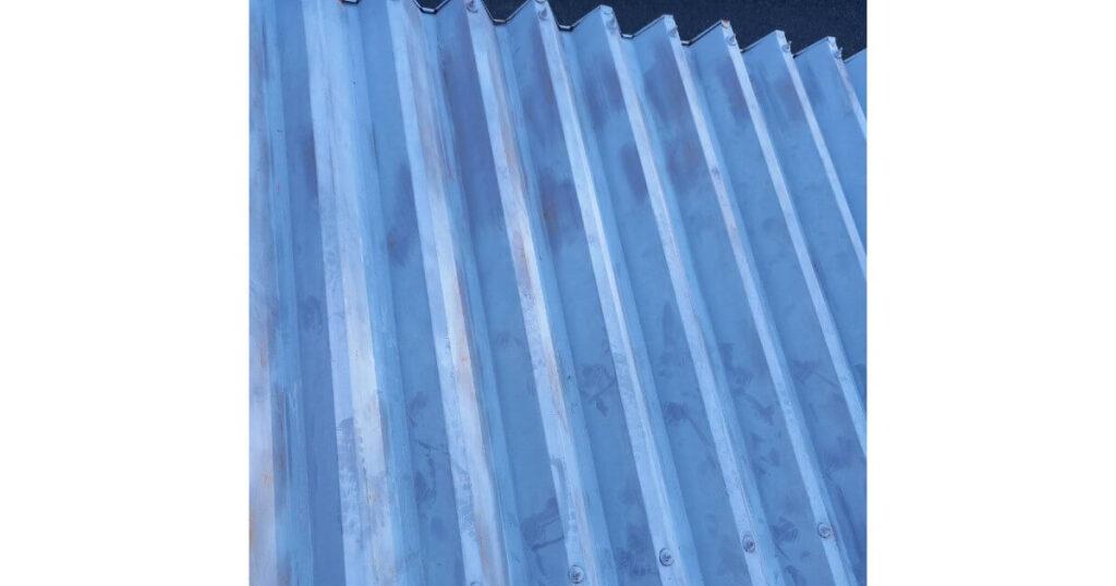 車庫屋根塗装前