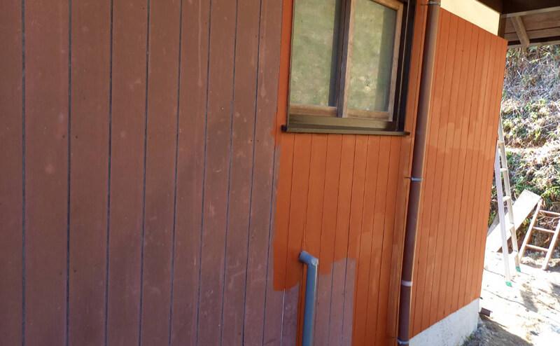外壁木部下塗り