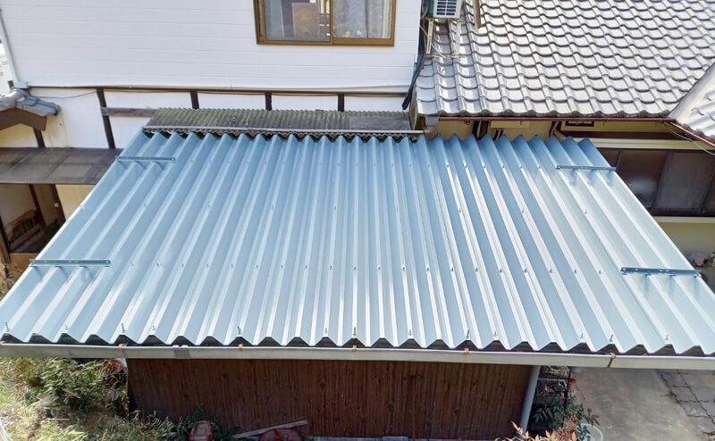 折半屋根塗装完成