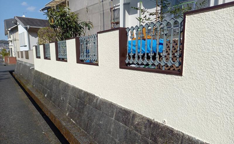 外塀塗装後